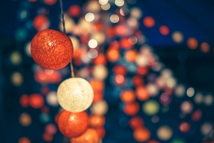 Bokeh-Photography-of-Decorative-Lights