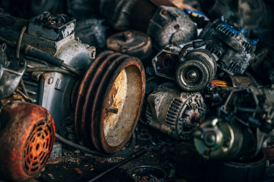 Many-Different-Automotive-Parts-at-a-Scrape-Yard
