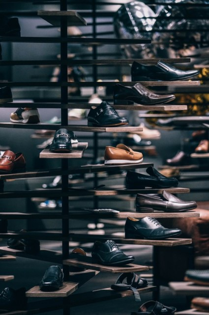 Many-Different-Man's-Shoes-Displayed-for-Sale