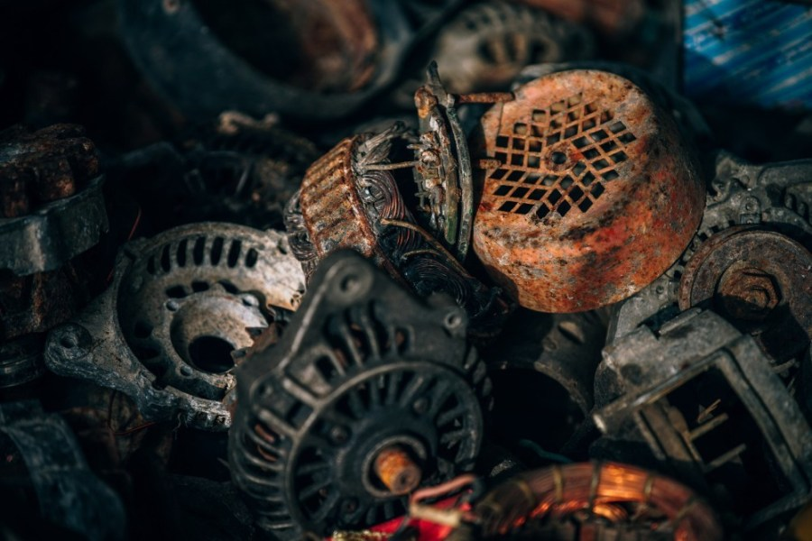 Old-and-Non-usable-Metal-Parts-in-a-Junkyard