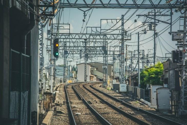 Railway-Tracks-in-Kyoto-Japan