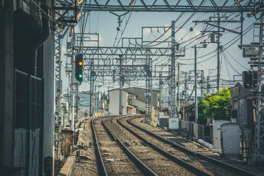 Railway-Tracks-in-Kyoto-Japan