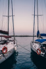 Two-Docked-Boats-Photographed-at-Sunset