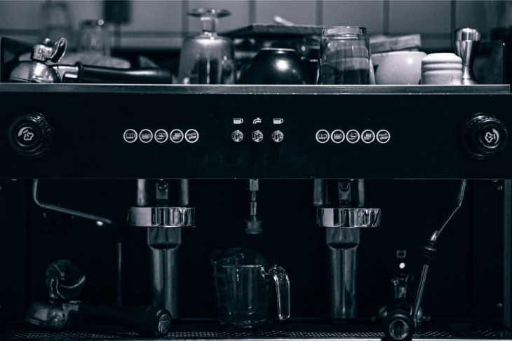 Black-and-White-Photography-of-a-Coffee-Machine