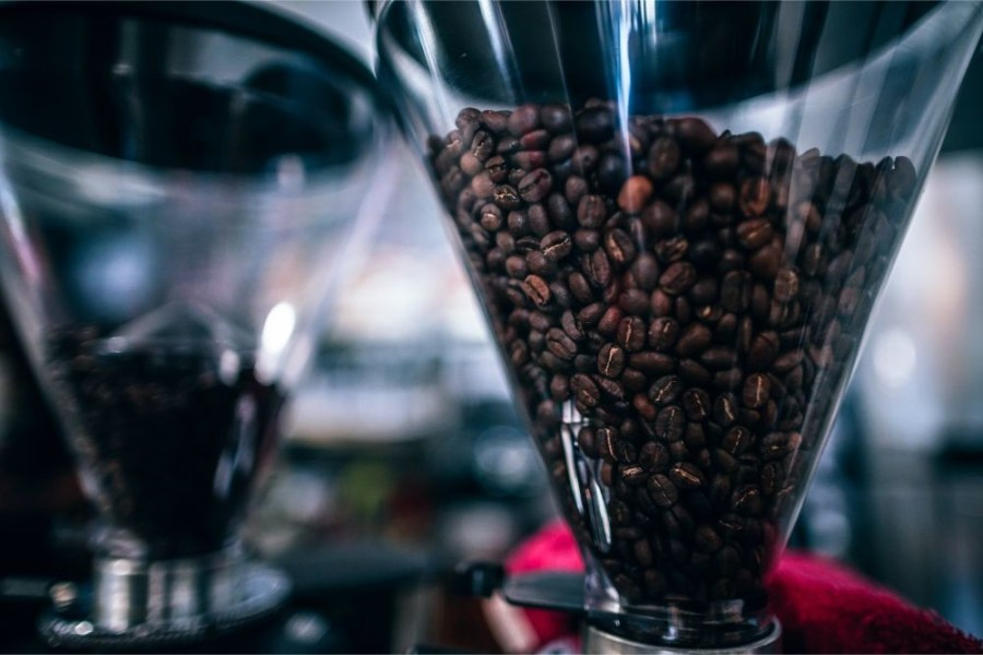 Close-up-Shot-of-a-Coffee-Grinder