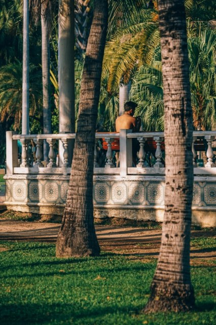 Man-Talking-on-the-Phone-while-Enjoying-the-Sunshine-in-Lumphini-Park-Bangkok