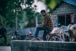Nepali-Teenager-on-a-Vintage-Bike