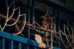 Stunning-Om-Metal-Symbol-on-a-House-Door