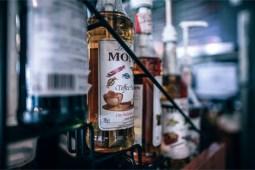 Toffee-Syrup-on-a-Coffee-Shop-Bar