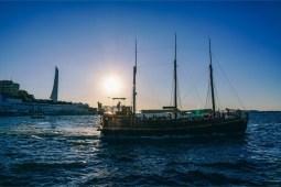 Wooden-Passenger-Boat-Floating-In-Sevastopol