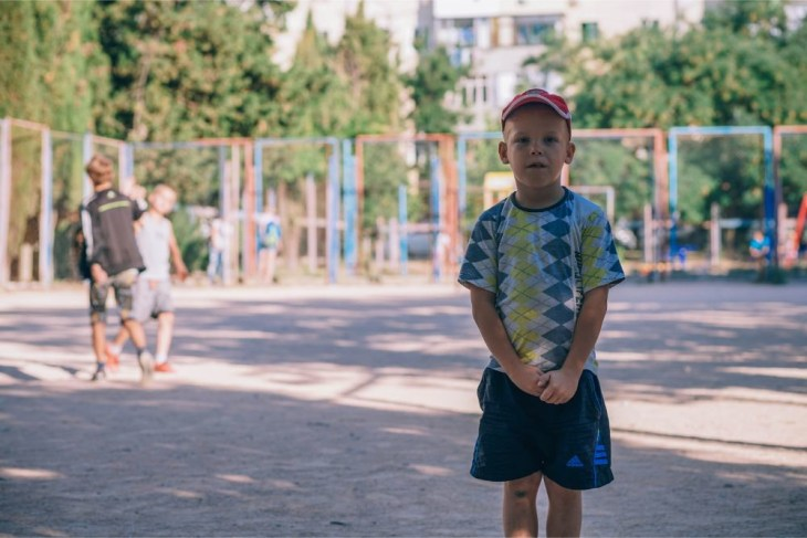 Young-Kid-Posing-at-a-Playground-in-Sevastopol
