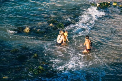 Young-Kids-Bathing-in-the-Sea-in-Sevastopol