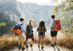 Backpacker friends on an adventure