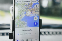 Google Maps Application Open on an Iphone