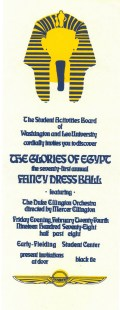 Fancy Dress 1978: The Glories of Egypt featuring The Duke Ellington Orchestra