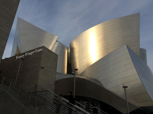 Disney Concert Hall in the late afternoon.