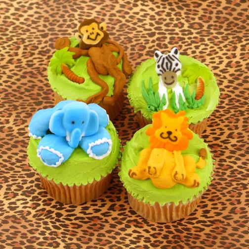Jungle AnimalCupcakes
