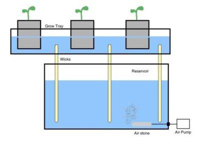 wick hydroponics system