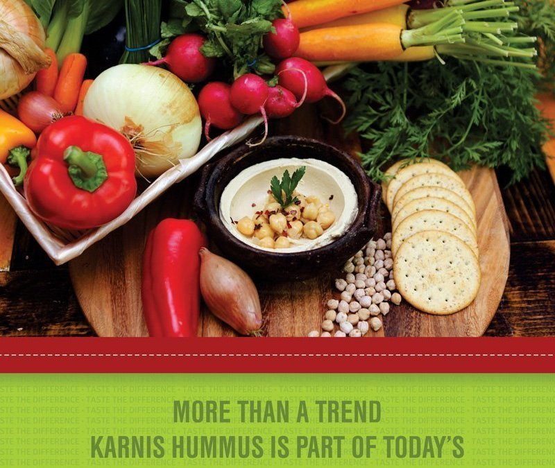 Photography and Flyer Production for Karnis Hummus