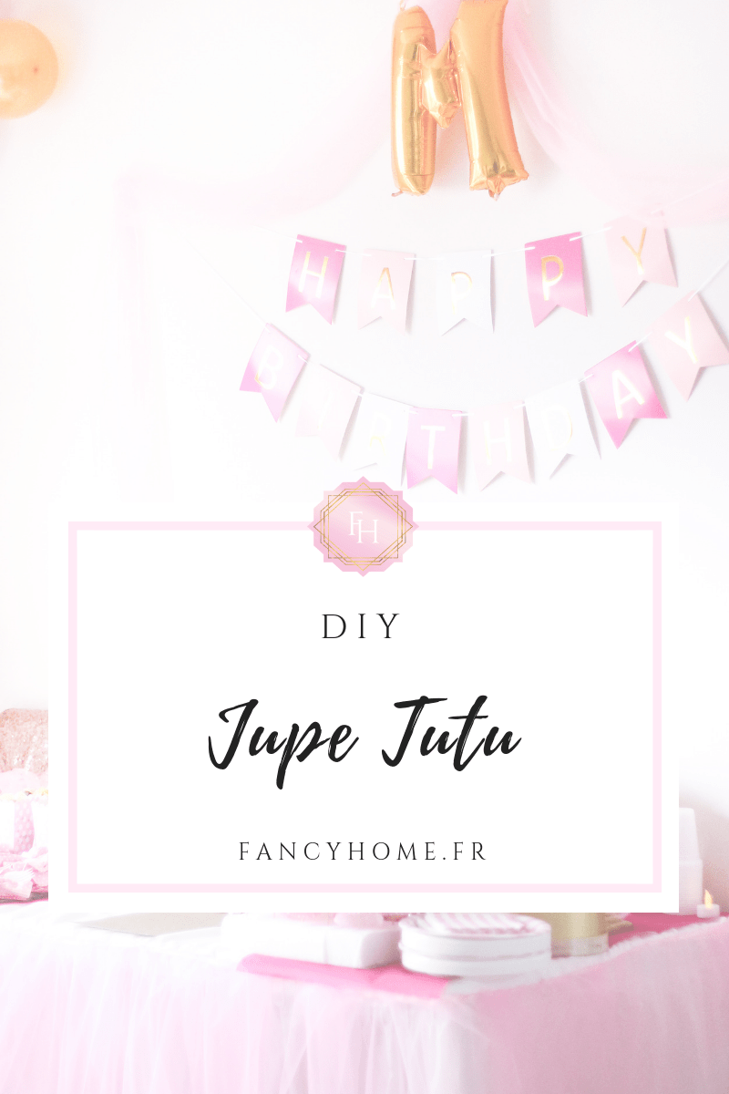 Jupe de table tutu à faire soi même-DIY