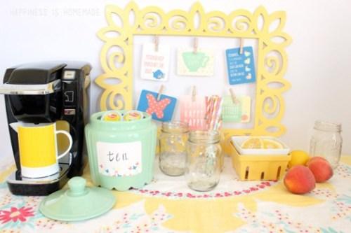Vintage-Modern-Iced-Tea-Bar-with-Lipton-K-Cups