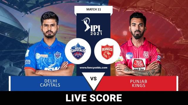 VIVO IPL 2021 M11: DC vs PK Live Score Telecast Head to Head Records   VIVO IPL 2021 Delhi Capitals vs Punjab Kings Live Match Score Telecast Broadcast