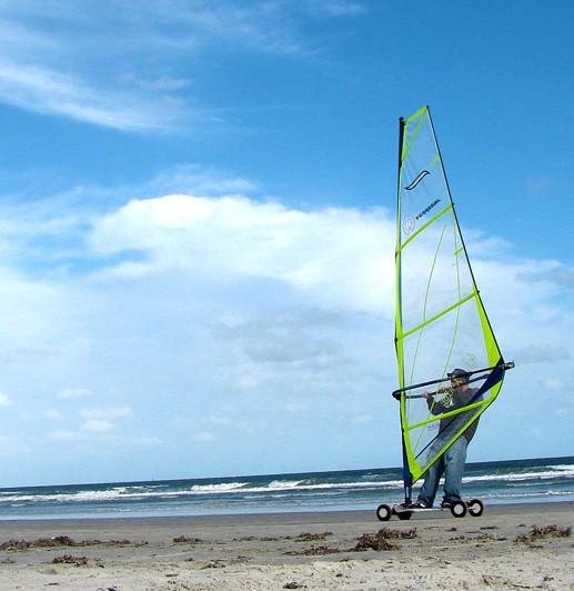 Land Windsurfing