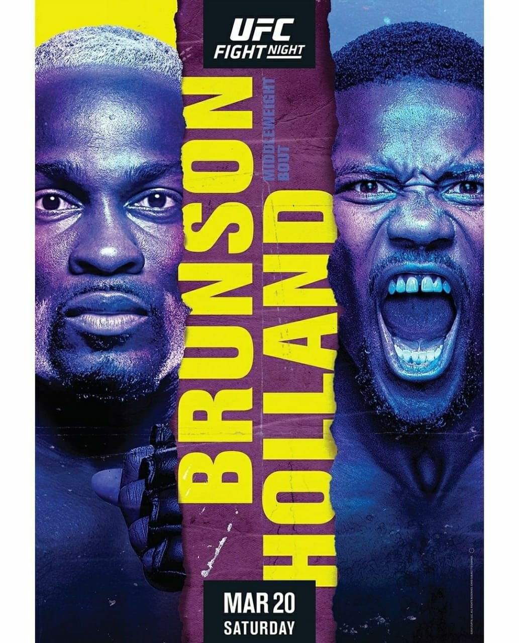 2021 UFC Fight Night Schedule | Ultimate Fighting Championship Brunson vs Holland