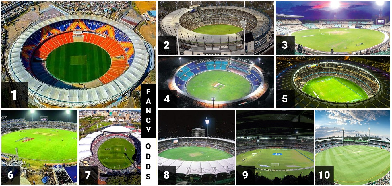 Top 10 Largest Cricket Stadium in the World List Of Ten Biggest Cricket Stadium