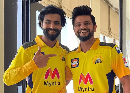 IPL 2021 | Ravindra Jadeja and Suresh Raina joins CSK camp and pose in new CSK jersey