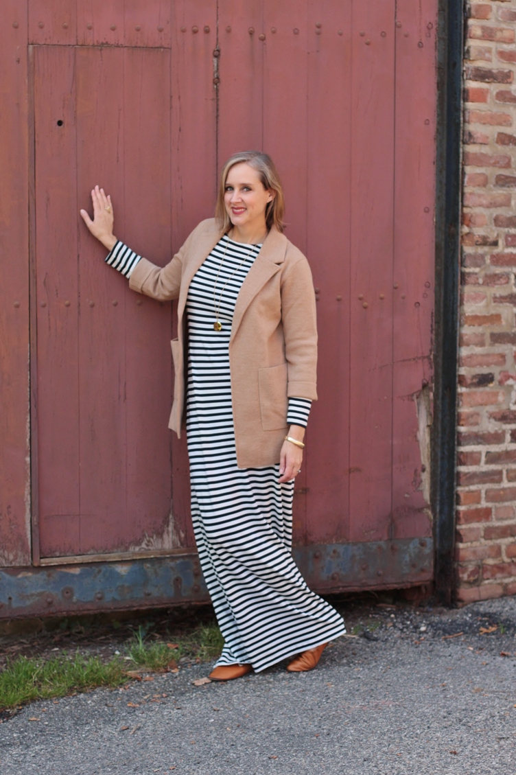 how to wear maxi dress in fall, over 40 style blogger, over 40 fashion blogger, detroit blogger