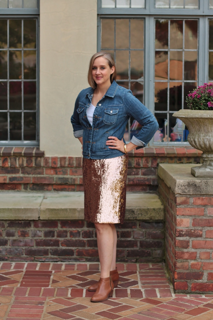 how to dress down a sequin skirt, over 40 style blogger, over 40 fashion blogger