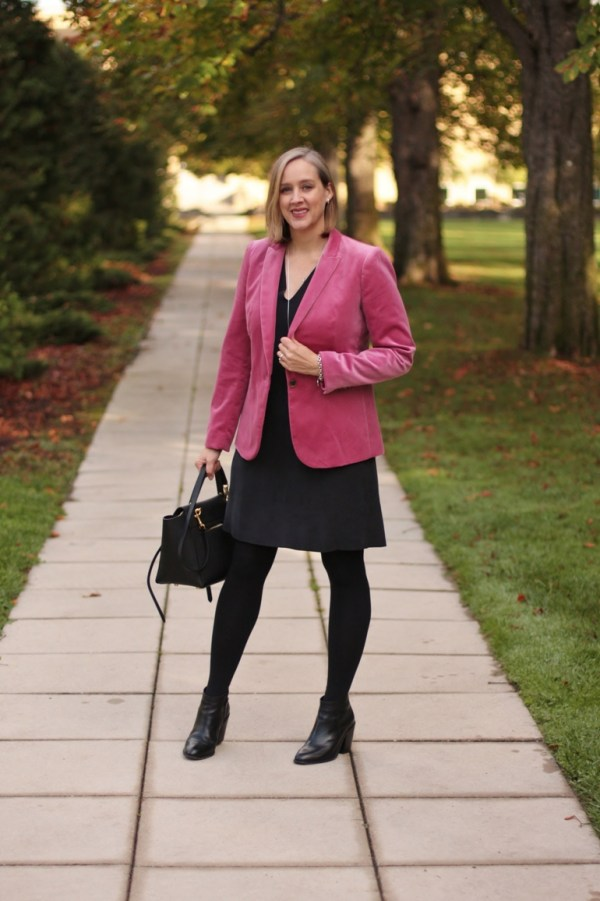 how to wear a pink blazer, over 40 style blogger, over 40 fashion blogger