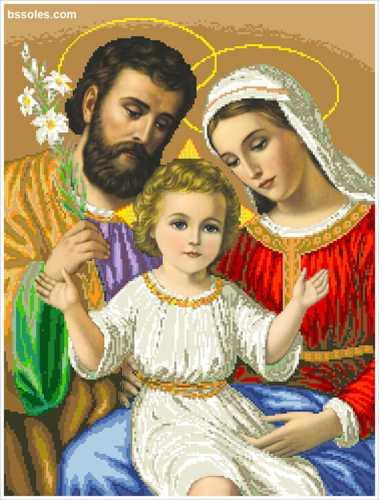 Набор для вышивания бисером Святое семейство (большое ...