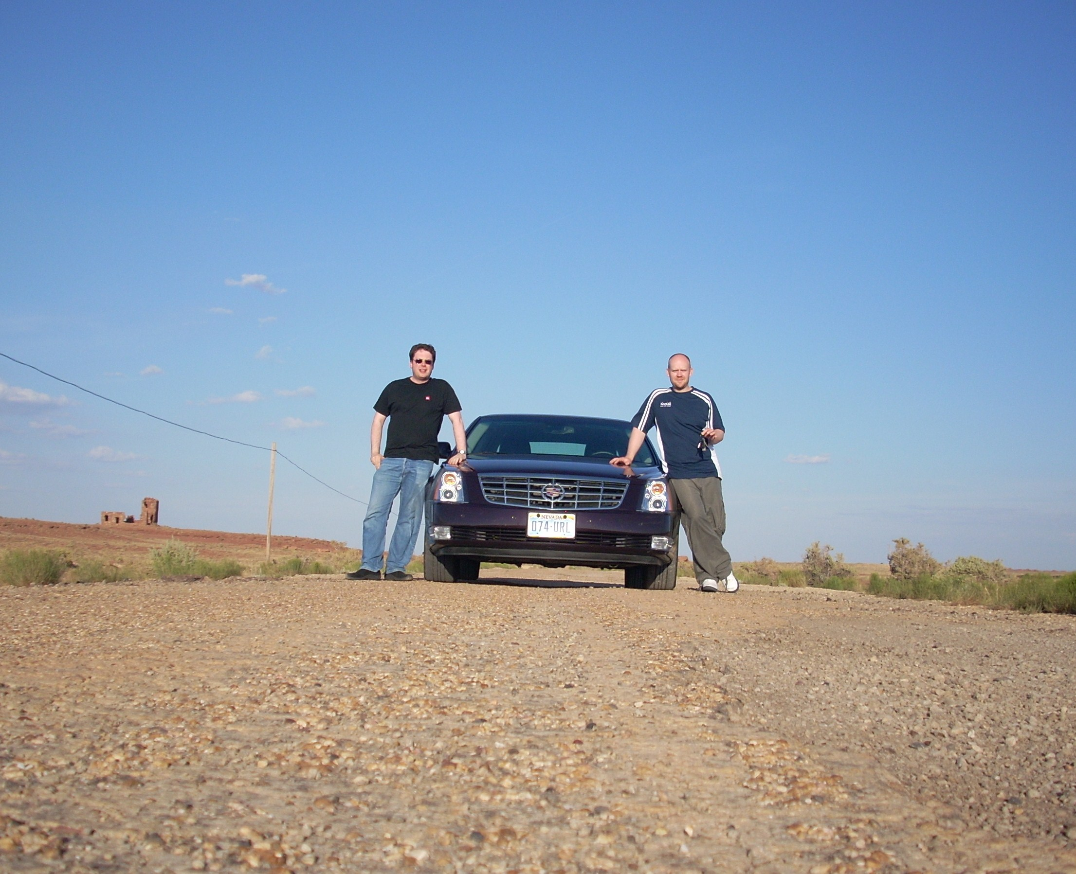 Just off Route 66 on our way to Texas