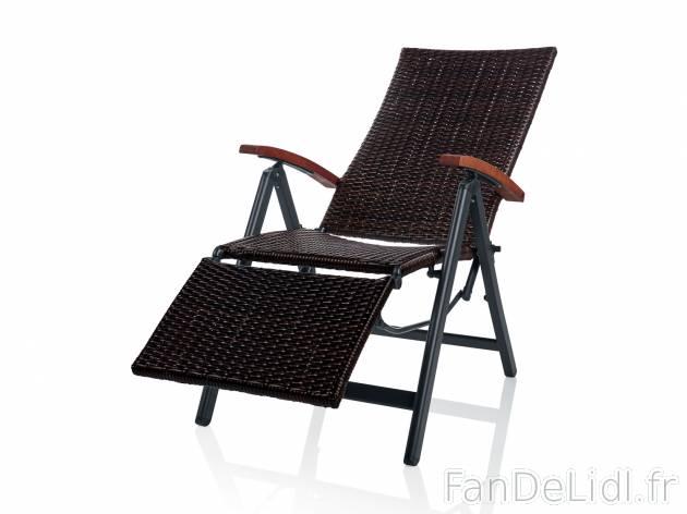 fauteuil relax tresse jardin