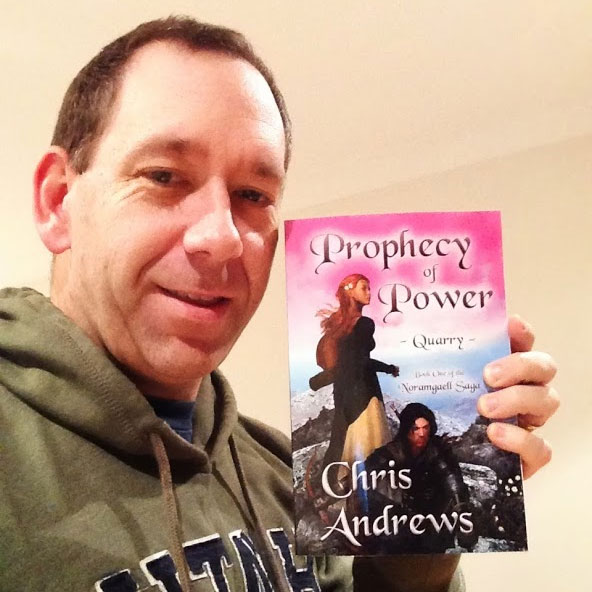 Me with the copy of my book I printed for inspiration.