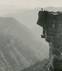 A man atop a cliff