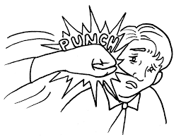 A cartoon of a person being punched in the face with the word 'punch' highlighted
