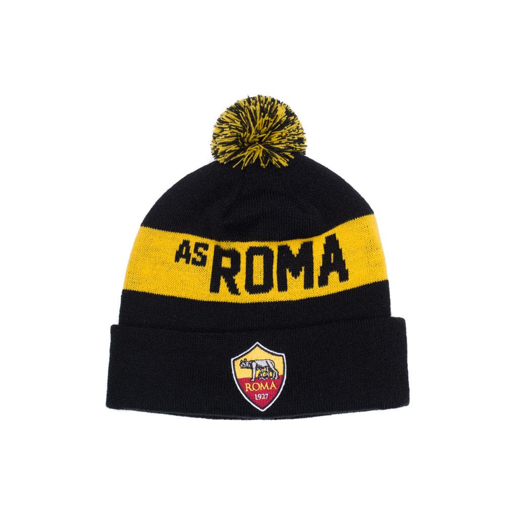 AS Roma Cuff PomPom Toque