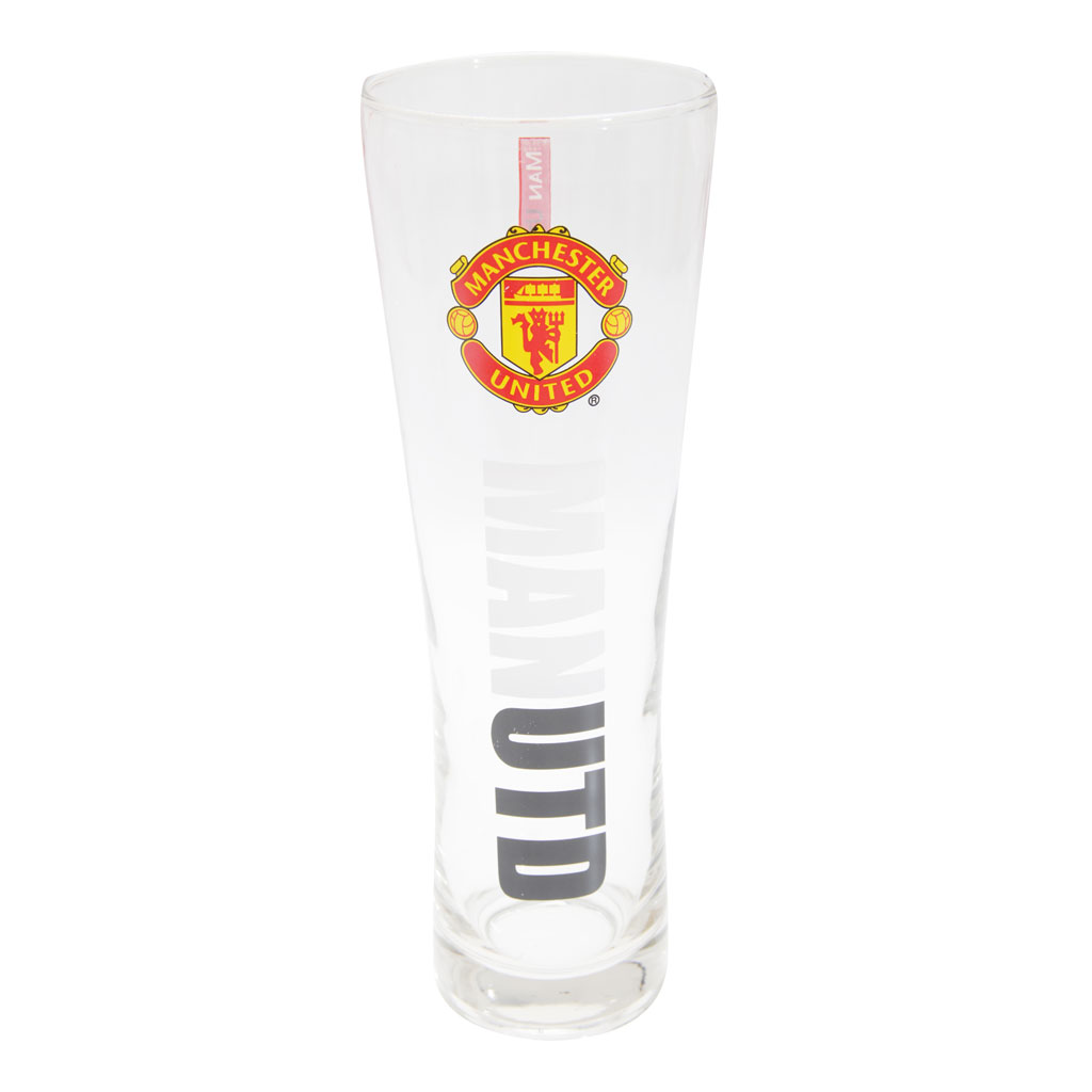 Manchester United Slim Style Pint Glass