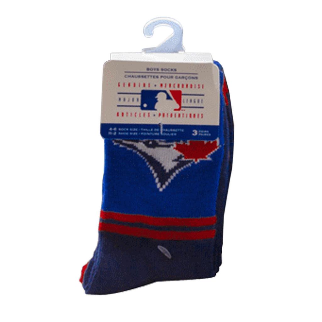 Toronto Blue Jays MLB Boys Crew Socks 3PK
