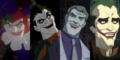 The recent glut of animated adaptations of DC graphic novels has featured various incarnations of the Joker. From left to right, they are played by James Patrick Stuart, Bender himself John Di Maggio, Lost's Michael Emerson and Troy Baker. Speaking of which...