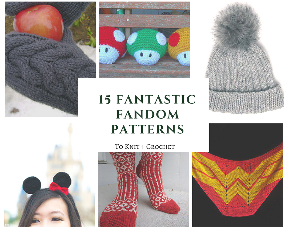 15 Fantastic Fandom Patterns To Knit Crochet Fandom Knitting