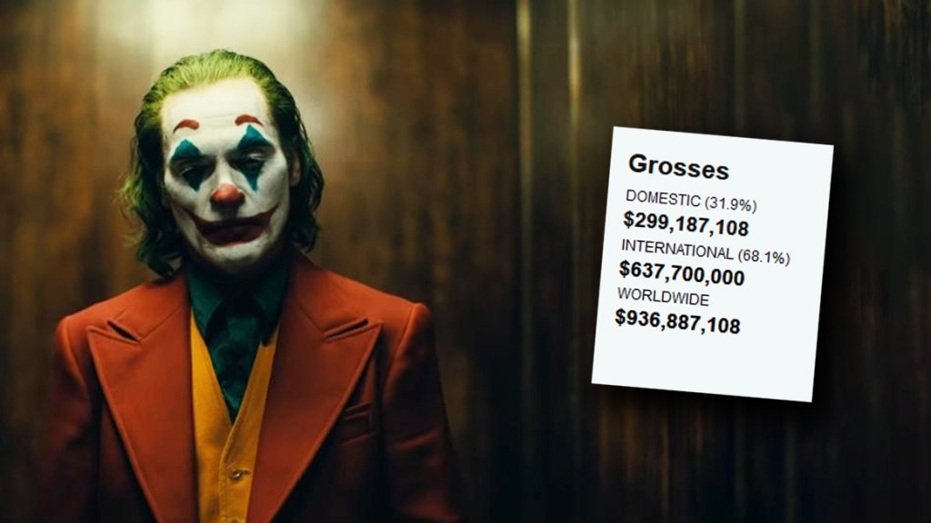 Image result for The Joker + Box Office Mojo