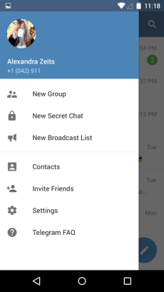 Telegram Material Design Screenshot 3