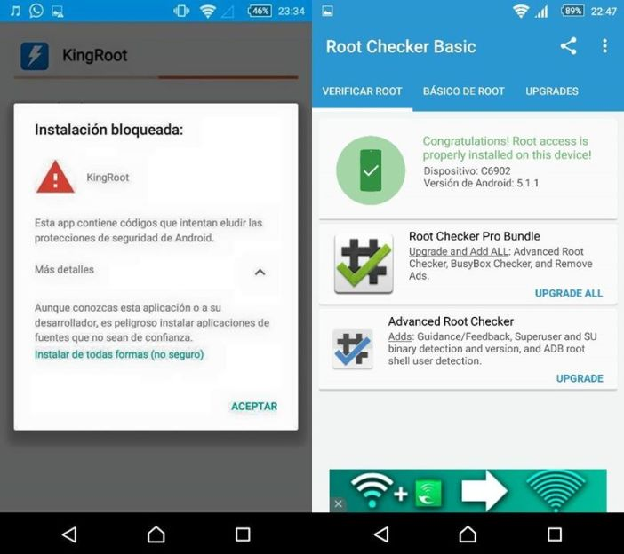 Screenshots Root Z1 Compact Android 5.1