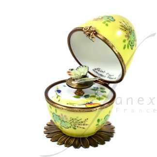 butterfly automata yellow limoges music egg