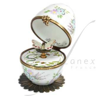 butterfly automata white limoges music egg