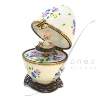 ladybugs beige automata limoges music box